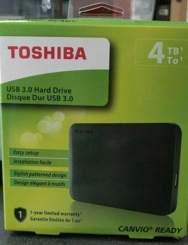 4TB NEW TOSHIBA Canvio Ready Portable External Hard Drive in SEALED Retail Box